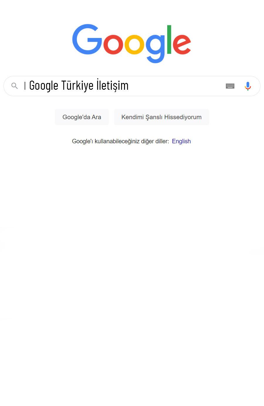Google Türkiye İletişim Bilgileri